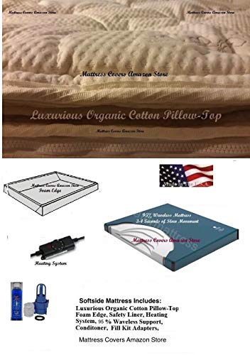 King Softside Waterbed Mattress with Cotton Pillow Top & 95% -