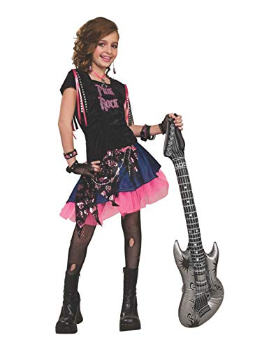 Pop Stars Costumes (Rubie's Pink Rock Girl Costume - Small)