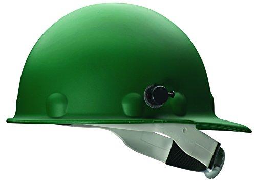Fibre Metal - Fibre-Metal 280-P2HNQRW74A000 Roughneck P2HN Hard Hats, 8 Point, Quick-Lok Mounting Blocks, One Size, Green
