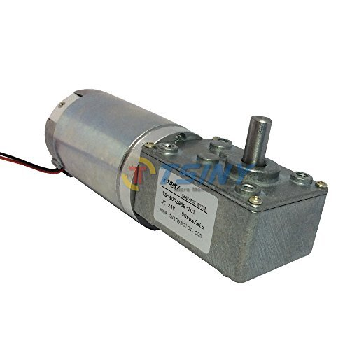 24vdc 50 Rpm High-torque Drive Pmdc Worm Geared Motor with Gearbox Gear Reducer by TSINY MOTOR