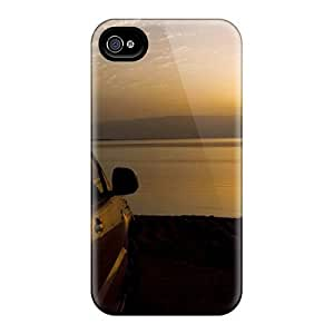 Iphone 4/4s Sunset Print High Quality Tpu Gel Frame Case Cover