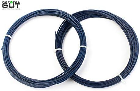 n.g.w. V5 100%天然ガットテニスラケットストリング ブルー樹脂コーティングカラー