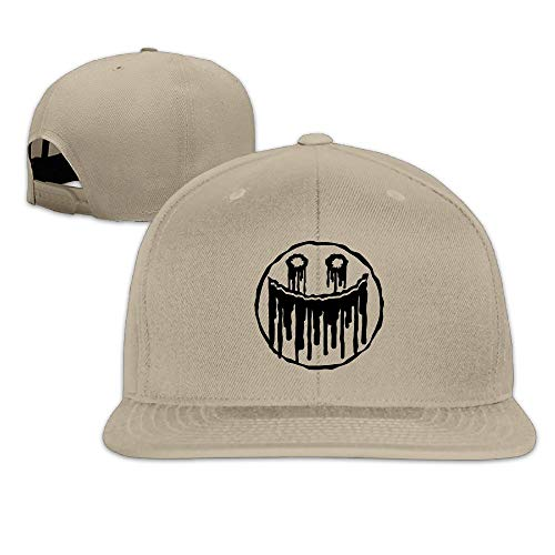 (Fashion Cool Blood Smiley Unisex Flat Baseball Cap for Outdoor or Indoor)