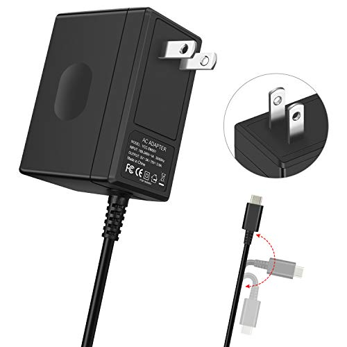 (YAEYE Switch Charger Compatible with Nintendo Switch/Switch Dock/Pro Controller with 5ft Type C Cable,Support TV Mode,2.5 Hours Fast Travel Wall Charger,1.5V/2.6A AC Adapter Power Supply)