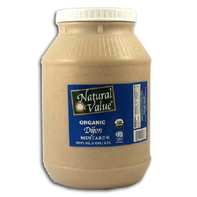 Natural Value Organic Dijon Mustard, 128 Ounce