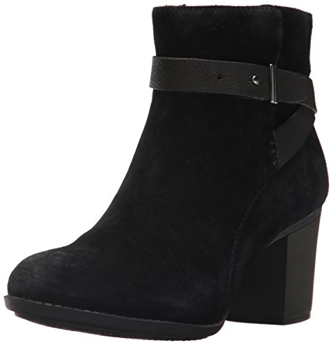 Black Suede Bootie - CLARKS Women's Enfield Sari Ankle Bootie, Black Suede, 9.5 W US