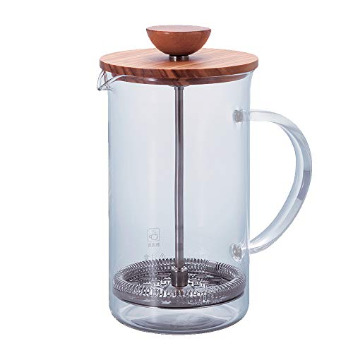 Hario Olivewood Coffee and Tea Press, 600ml -