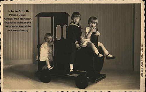 Royal Children Portrait on Toy Train Royalty Original Vintage Postcard from CardCow Vintage Postcards