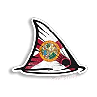 4 inch Florida State Red Fish Fin Sticker FL fishing cup laptop Car Vehicle Window Bumper Vinyl Decal Graphic