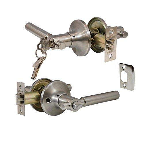 Constructor CON4451 Rondo Entry Lever Door Lock, Satin Nickel Finish