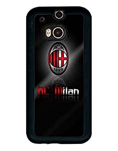 Beautiful Style HTC One M8 Hard Plastic Cell Phone Cover Cool Drop Protection Anti Scratch AC Milan FC Protective Cell Phone Cover For Girls - Mewmewtat
