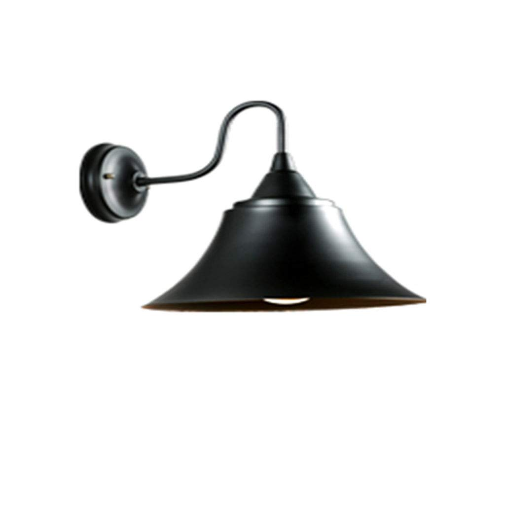 Wall Lamp Creative Iron Art Corner Modern Stairway Bathroom Bedside Wall Lamp E27, Industrial Retro Staircase, Corridor, Balcony, Black Single-Headed Attic
