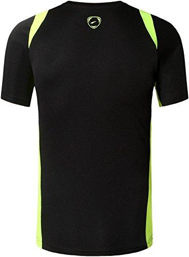 Casuale Jeansian black Fashion shirts Tee Sports Lsl020 Camicie Rapida Asciugatura Sportivo Lsl601 T Uomo Slim w00T6BI