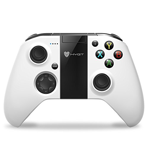 MYGT Wireless Gaming Controller Gamepad Android Smartphone Windows PC PS3 VR TV Box (White)