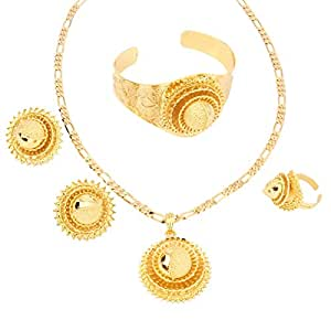 Amazon.com: Fashion Dubai Gold Jewelry 24k Gold Plated