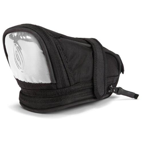 Timbuk2 Lightbrite Bicycle Seat Pack, Black with White Reflective, Medium, Outdoor Stuffs