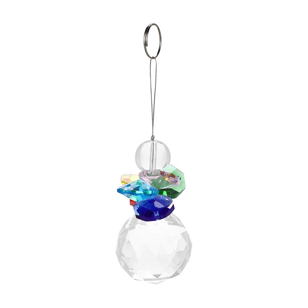 Christmas Tree Decorations Clearance,Jchen(TM) Merry Christmas 1PC Bohemian Style Clear Crystal Ball Prisms Pendant Hanging Wedding Decor Gift (H)