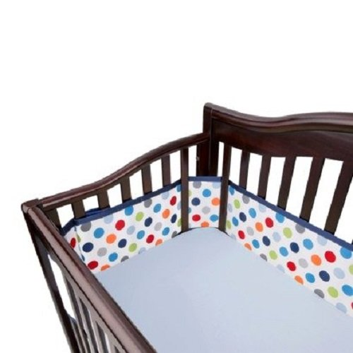 Breatheable Baby Mesh Crib Liner 2014 Pink Polka Dot Girl