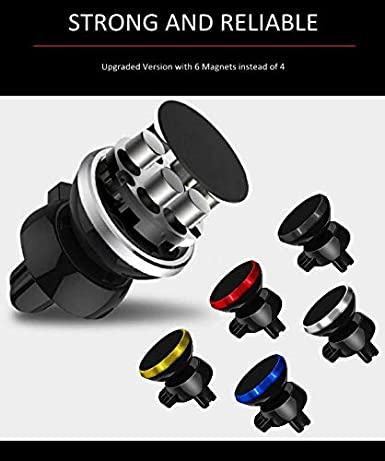 Universal Magnetic Car Phone Mount for Air Vent Cell Phone Holder for Car Accessories Capable of Vertical and Horizontal Display Mounts to Car Vent 5 Colors Options 62162 Blue