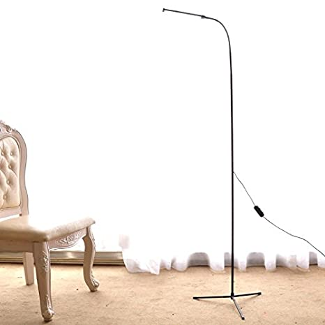 Merveilleux Dimmable LED Floor Standing Lamp Reading Light For Living Room Bedroom With  1.5M Length USB