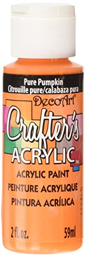 DecoArt Crafter's Acrylic Paint, 2-Ounce, Pure Pumpkin