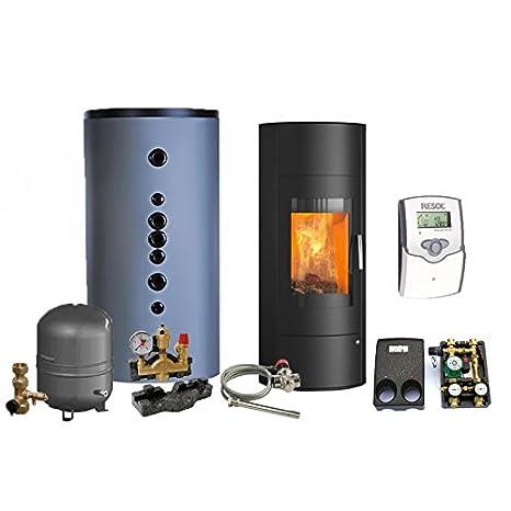 Gestión del agua estufa de leña - paquete completo Premium - rey cabaña Taurus Aqua (