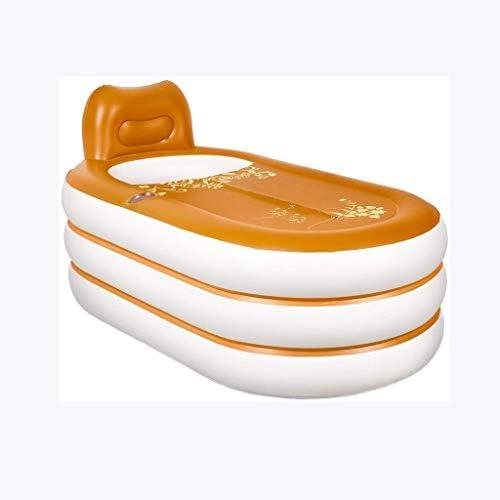 SBWFH オレンジインフレータブルバスタブ - 折り畳み式ポータブルプラスチックバスタブ、家庭用バースバレル