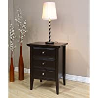 Coventry West Quay 3 Drawer Nightstand. This Beautiful Rich Brown End Table Compliments Any Room, Including, the Hall, Bedroom o