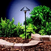 Stem Mount Light Path (Kichler Textured Black Cone Low Voltage Landscape Light)