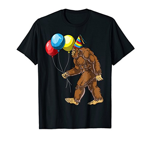 Bigfoot It's My Birthday T shirt Kids Boys Sasquatch Party -