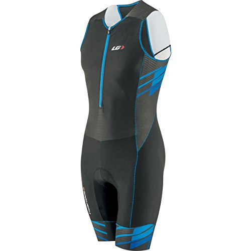 Louis Garneau Men's Pro Carbon Tri Suit (Black/Blue, Small) ()