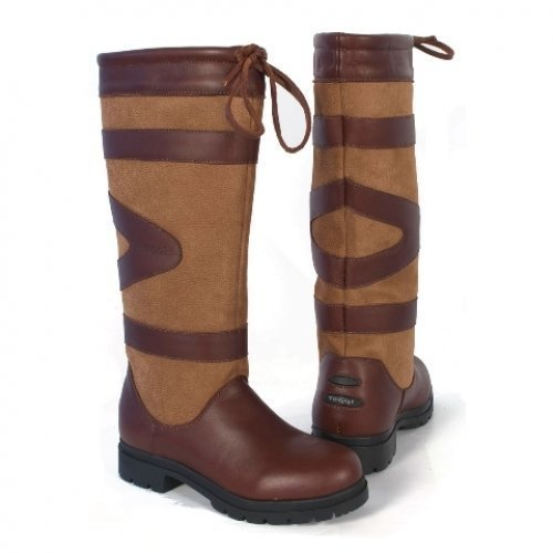 Toggi Berkeley Country Long Waterproof Boot In Cedar Brown, Size: 3.5 (EU 36) by William Hunter Equestrian