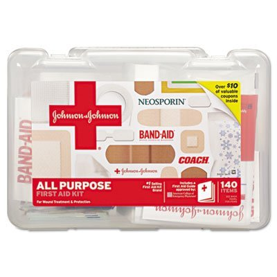 All Purpose First Aid Kit, 140-Pieces, Plastic Case by MOT