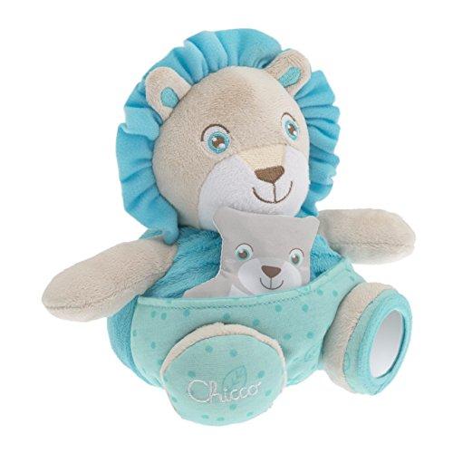 Papai Leão Soft Cuddles, Chicco, Azul