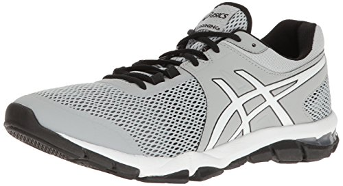 ASICS Men's Gel-Craze TR 4 Cross-Trainer Shoe, Mid Grey/White/Black, 13 M US