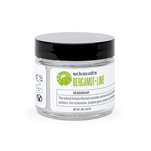 Schmidt's Natural Deodorant - Bergamot and Lime Jar (2 ounces; Odor Protection and Wetness Relief; Aluminum-Free)