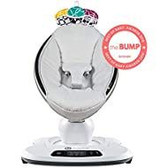 4moms mamaRoo 4 Baby Swing, high-tech Baby Rocker, Bluetooth Enabled – Classic Nylon Fabric with 5 Unique motions
