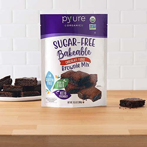 Organic Chocolate Fudge Brownie Mix by Pyure | Sugar-Free, Keto, Low Carb | Bakeables | Makes 11 Brownies 2