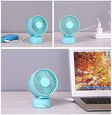 Desktop Mini USB Desktop Fan Mini Silent Student Dormitory Fan Office Bed Home Perfect Cooling Camp Laptop White Library