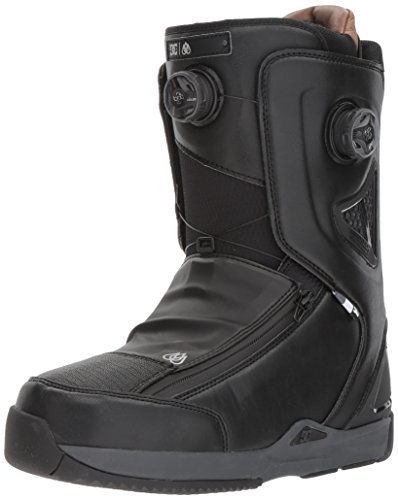 DC Men's Travis Rice Dual Boa Snowboard Boots, Black/Red, 11