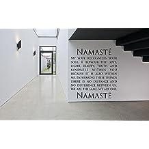 Removable Vinyl Sticker Mural Decal Art Decor Namaste Word Phrase Quote Yoga Studio Business Poster Peace Meditation Sign Logo SA134