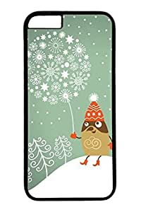 iPhone 6 Case, Personalized Unique Design Covers for iPhone 6 PC Black Case - Merry Christams Snow by mcsharks