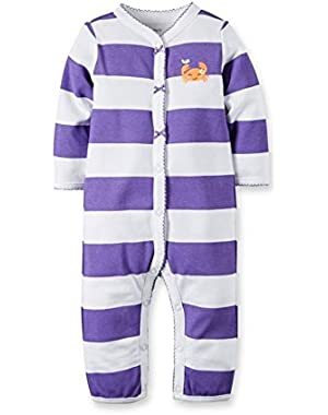 Carters Baby Girls Cotton Snap-Up Footless Sleep & Play Multi