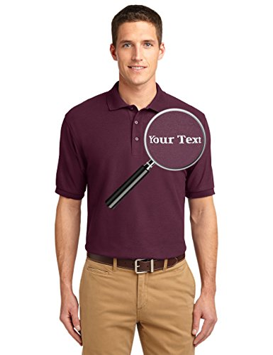 Custom Embroidered Shirts - Add Your Text - Personalized Embroidery Polo - Shirts Golf Team Usa