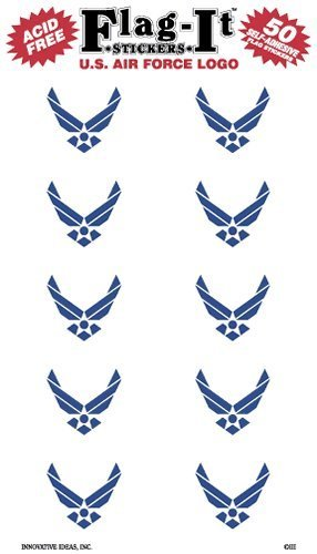 Air Force Flag Stickers (Air Force Logo flag stickers for home or school by Flag It)