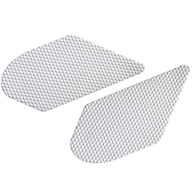 NEX Performance Motorcycle Tank Traction Pad Protector, Universal, White: Automotive