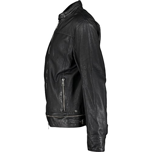 Just Cavalli S01AM0147 N08467 900 Herren Leather Jacket Schwarz