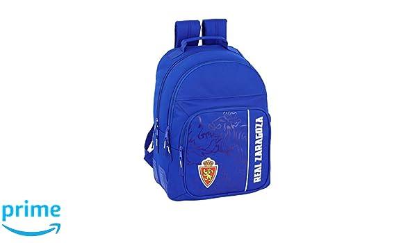 Real Zaragoza Oficial Mochila Escolar 320x150x420mm: Amazon.es: Ropa y accesorios