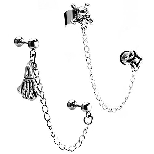 JewelrieShop Stainless Skeleton Cartilage Earrings product image