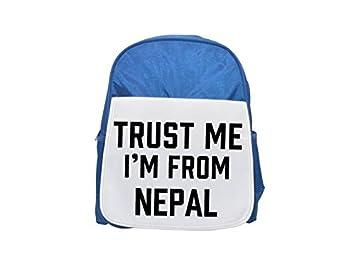 Trust Me I Am de Nepal impreso Kid s azul mochila, para mochilas,